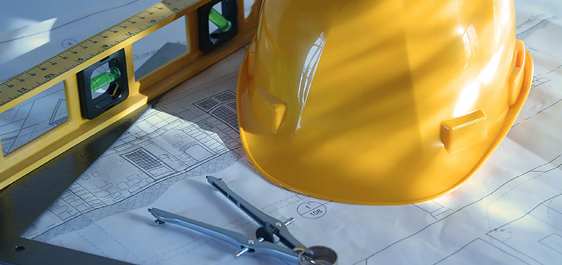 Construction hat and measurement tools